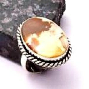 African Tiger's Eye in 925 Stamped Ring
